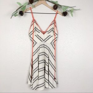 UO emote spaghetti strap striped skater dress